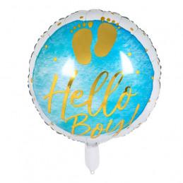 Ballon foil Hello Boy! 45 cm