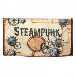 Drapeau polyester Steampunk...