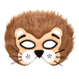 Demi-masque peluche Lion
