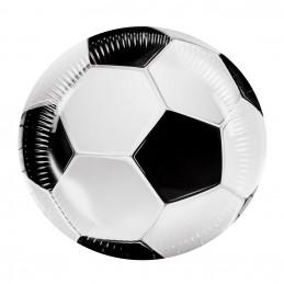 6 Assiettes Football 23 cm