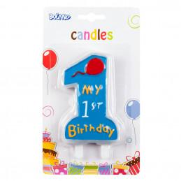 Bougie ''My 1st birthday''...