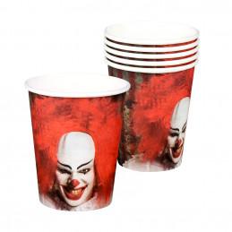 6 Gobelets carton  Clown...