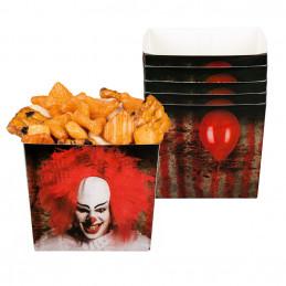 6 Bols carton Clown horreur...
