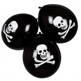 Sachet 6 Ballons Pirate 25 cm