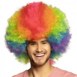 Perruque Clown Rainbow deluxe