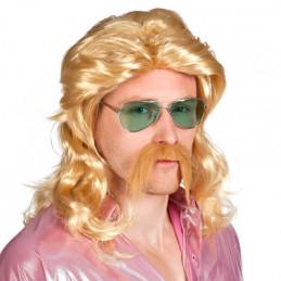 Perruque Barry avec moustache