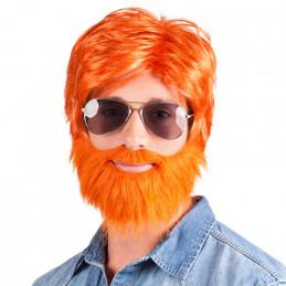 Perruque Dude orange
