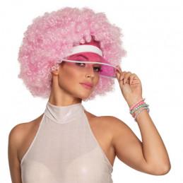 Perruque Afro rose avec...