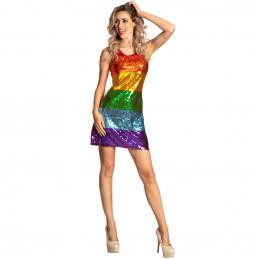 Robe adulte Dazzle rainbow...