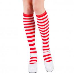 Chausettes mi-bas rouge/blanc