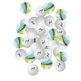 50 confettis 50 mm déco de...