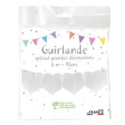 Guirlande coeurs 6 m - Blanc
