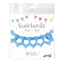 Guirlande deux cœurs 4m - Ciel