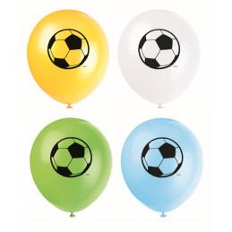 8 ballons ass. latex 30 cm...