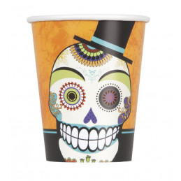 8 Day of the Dead 9oz Cups