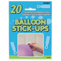20 stickers accroche ballon