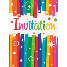 8 invitations Goûter...