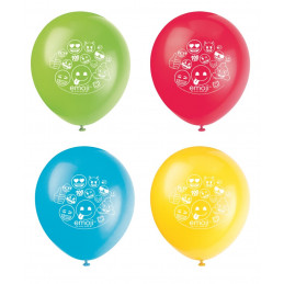 8 Ballons 30cm EMOJI