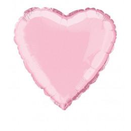 Ballon mylar 45 cm coeur rose