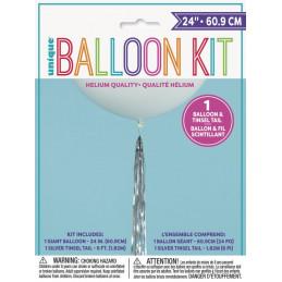 Ballon géant blanc 60 cm...