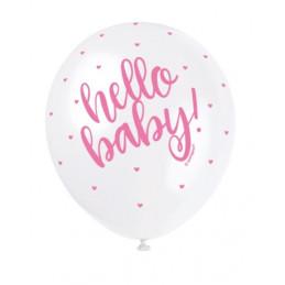 5 Ballons nacrés 30 cm...