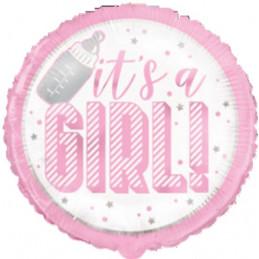 Ballon foil 45 cm it's a GIRL