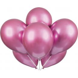 6 Ballons PLATINIUM Rose 28...