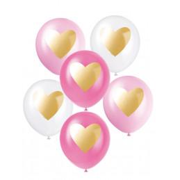 6 Ballons latex 30cm avec...