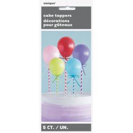 Cake topper 6 mini ballons...
