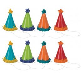 8 mini chapeaux à pompoms