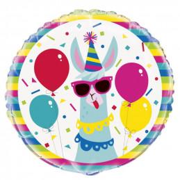 Ballon mylar Lama Birthday...