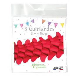 3 Guirlandes boa 2m - Rouge