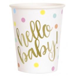 8 Gobelets 27 cl - Hello baby