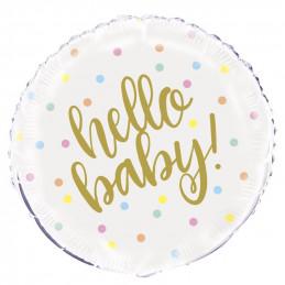 Ballon mylar 45 cm - Hello...