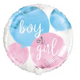 Ballon foil 45 cm BOY or GIRL