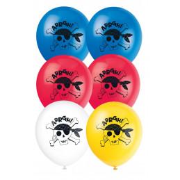 8 Ballons latex 23 cm AHOY...