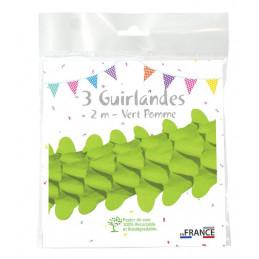 3 Guirlandes boa 2m - Vert...