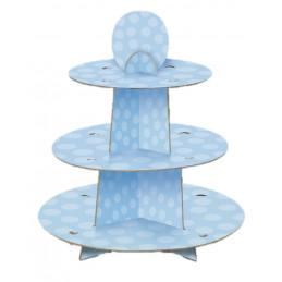 Stand à gateaux bleu
