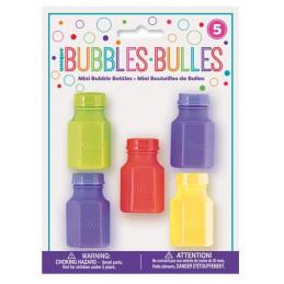5 mini bouteilles de bulles...
