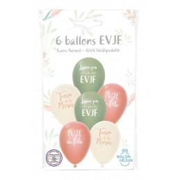 6 ballons imprimés EVJF...