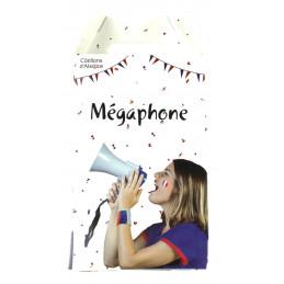 Megaphone supporter France...