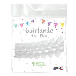 Guirlande zinnia 4m BLANC
