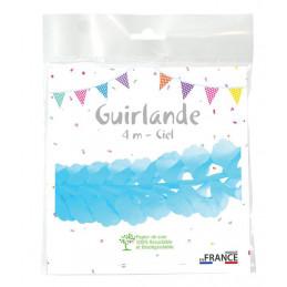 Guirlande zinnia 4m - Ciel