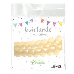 Guirlande zinnia 4m - Crème