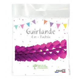 Guirlande zinnia 4m - Fuchsia