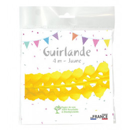 Guirlande zinnia 4m - Jaune