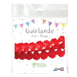 Guirlande zinnia 4m - Rouge