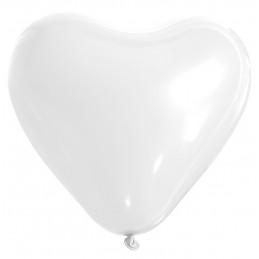 25 ballons coeur blanc 26 cm