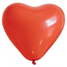25 ballons coeur rouge 26 cm