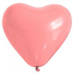 25 ballons coeur rose 26 cm